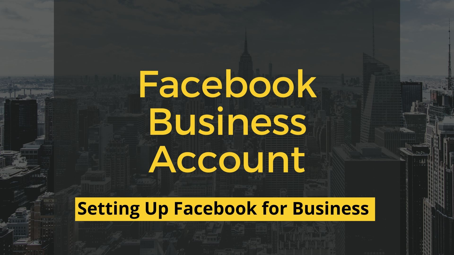 Facebook Business Account
